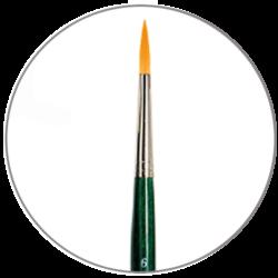 Pennelli sintetici Da Vinci tondo manico corto serie 5570