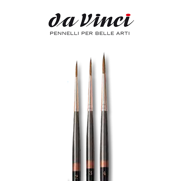 Pennelli Da Vinci MINIATURE MAESTRO tondo lungo serie 70
