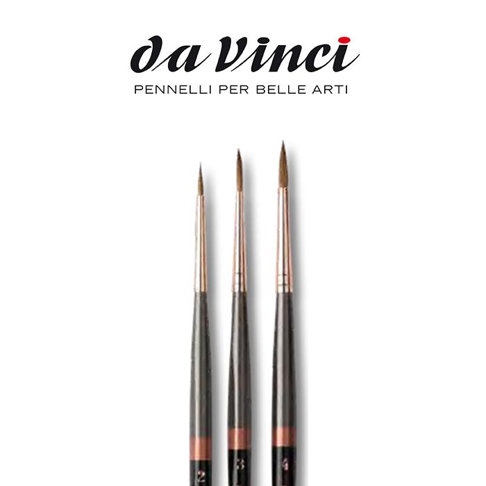 Pennelli Da Vinci MINIATURE MAESTRO tondo corto serie 76